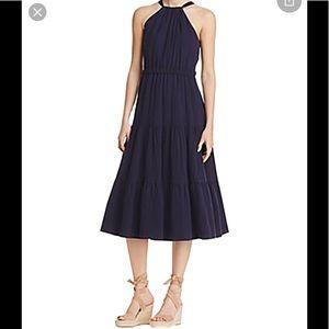 Rebecca Taylor  cotton halter midi dress Sz 8